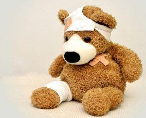 vorteile meditation weniger Krank Teddybär bandagiert