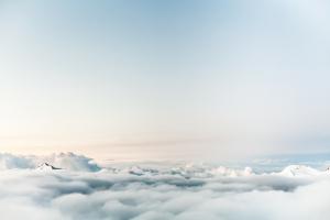 negative Gedanken Wolken