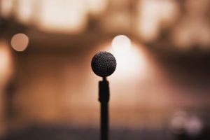 mikrofon für ansprache positive gedanken